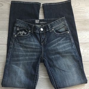 KUT From The Kloth Distressed Wash Jeans Size 4